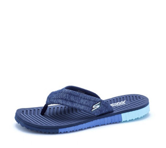 Skechers GO Flex 3 Solana Perforated Heathered Mesh Point Sandal - 163914