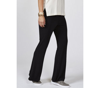 WynneLayers Matt Jersey Relaxed Flare Pull On Trousers - 166914