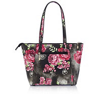 Butler & Wilson Square Shape Red Flowers Double Handle Bag - 163015