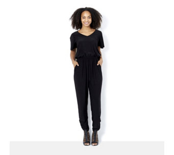 Together Jumpsuit with Ruched Leg Detail - 164315