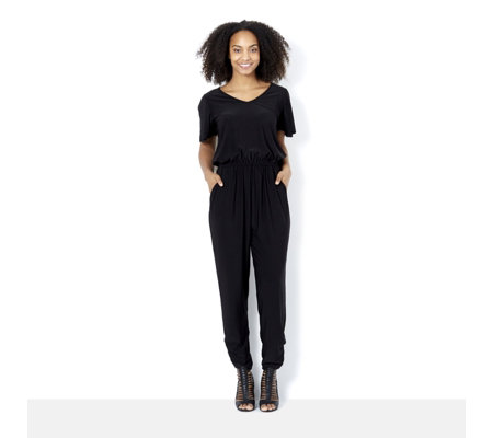 Fashion by Together Jumpsuit with Ruched Leg Detail
