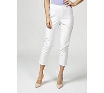 Isaac Mizrahi Live 24/7 Stretch Pull On Ankle Trousers Petite - 171815