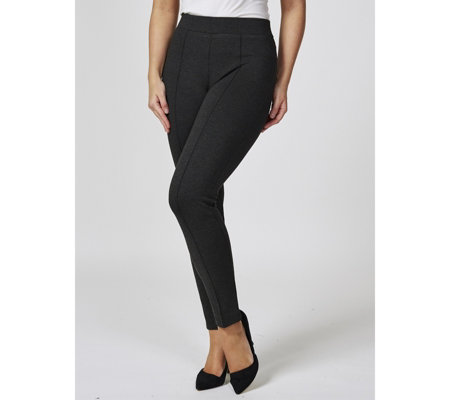 Mr Max Lux Ponte Slim Leg Trousers with Pin Tuck Detail