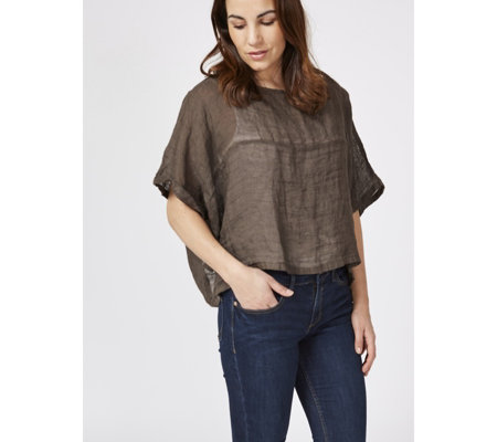 Join Clothes Linen Short Top