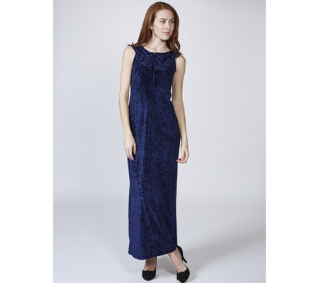 Kim & Co Diamond Velvet Maxi Dress