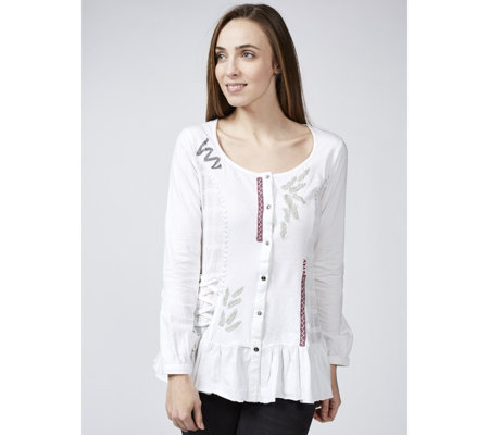 Joe Browns Ruffle Hem Santorini Blouse