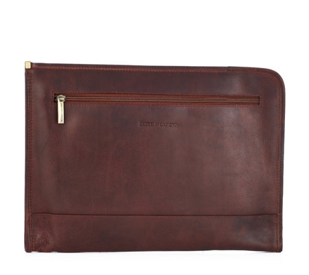 Smith & Canova Men's Leather Document Folder