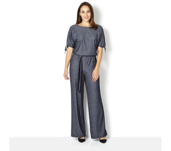 Attitudes by Renee Tie Sleeve Knitted Jumpsuit - 164518