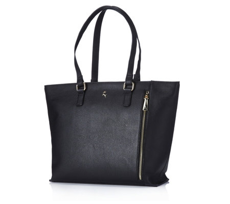 Ashwood Zip Detail Leather Tote Bag