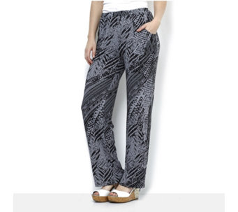 Antthony Designs Printed Trousers with Front Pockets - 166019