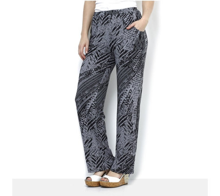Antthony Designs Printed Trousers with Front Pockets