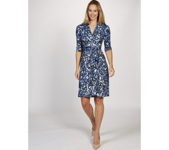 Pitot 3/4 Sleeve Printed Dress Onjenu London - 169219