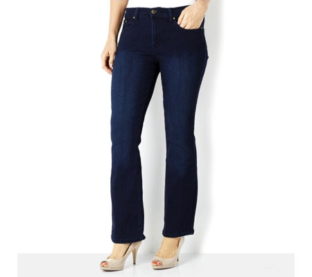 Diane Gilman Superstretch Bootcut with Signature Plaque Regular Length