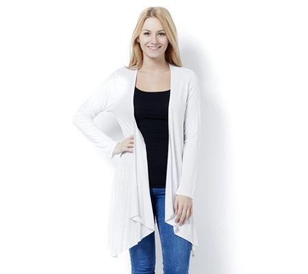 Marble Edge to Edge Waterfall Front Cardigan