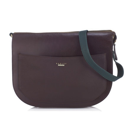Radley London Duke Medium Leather Zip Top Shoulder Bag - QVC UK