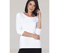 Ruth Langsford Essentials Round Neck 3/4 Sleeve Top - 165620