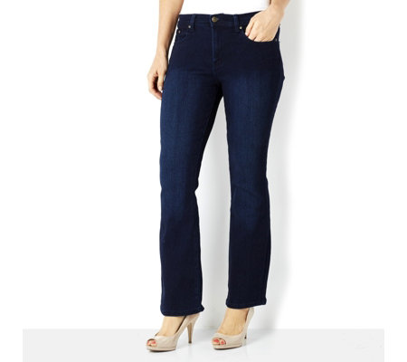 Diane Gilman Superstretch Bootcut with Signature Plaque Short Length