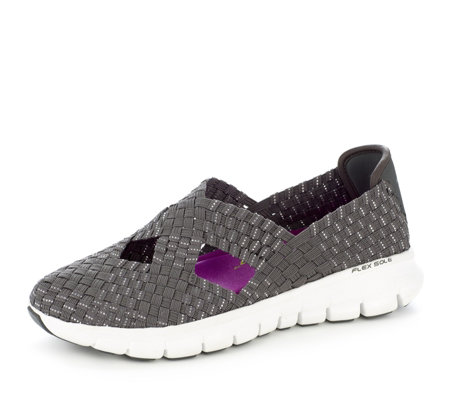 Skechers Synergy Stretch Weave Cross Over Mary Jane with Memory Foam