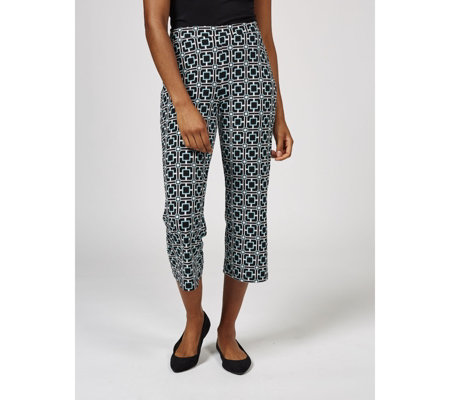 Printed Gaucho Cropped Trousers by Nina Leonard