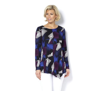 Attitudes by Renee Printed Jacquard Top - 159921
