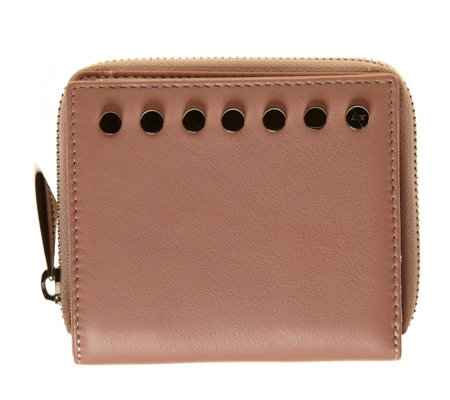 Amanda Wakeley The Jagger Small Leather Purse with Stud Embellishment