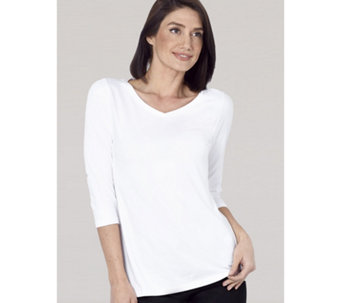 Ruth Langsford Essentials V Neck 3/4 Sleeve Top - 165621