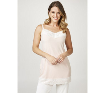 Kim & Co Brazil Knit Sleevless Tunic With Lace Detail - 165921