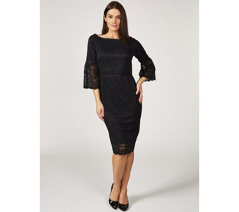 Ruth Langsford Fluted Sleeve Lace Dress - 168521