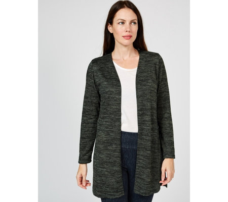 Mr Max Longline Topaz Knit Cardigan with Side Vents