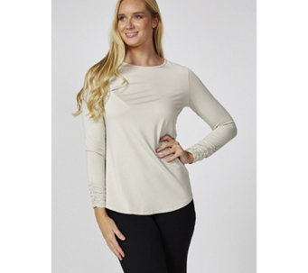 Mr Max Ultra Soft Knit Long Sleeve Top with Shirring Detail - 171721