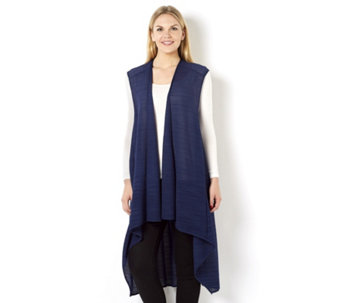 Join Clothes Sleeveless Waterfall Front Jacket - 161822
