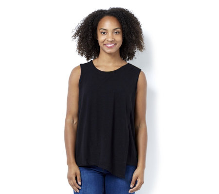 The Lisa Rinna Collection Sleeveless Top with Overlay Detail