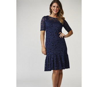 Kim & Co 2 Piece Embroidered Lace Brazil Knit Dress Set - 169322