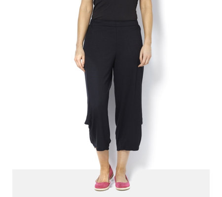 Yong Kim Modal Crop Trousers with Leg Pleat Detail