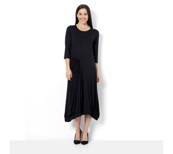 Yong Kim Jersey Maxi Dress with Elasticated Pocket and Hem Detail - 164724