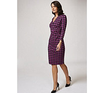 Ruth Langsford Printed Ponte Mock Wrap Dress - 168324