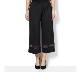 Yong Kim Modal Cropped Trouser with Mesh Hem Detail - 159225