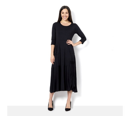 Yong Kim Jersey Maxi Dress with Patch Detail