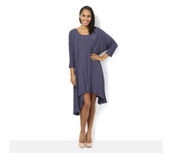Join Clothes Lightweight Knit Relaxed Swing Dress - 166525