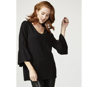 Flutter Sleeve Knitted Tunic by Michele Hope - 167425