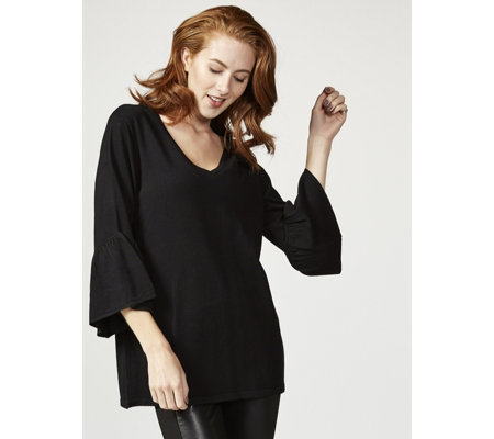 Flutter Sleeve Knitted Tunic by Michele Hope
