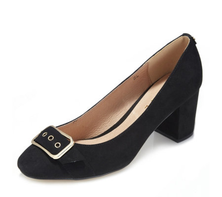 Ravel Hingham Faux Suede Block Heel Court Shoe