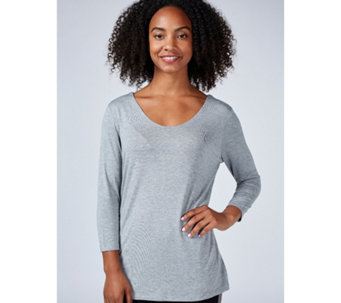 Ruth Langsford Essentials Scoop V Neck 3/4 Sleeve Top - 168325