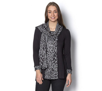 Chelsea Muse by Christopher Fink Long Sleeve Tunic & Scarf Set - 156626