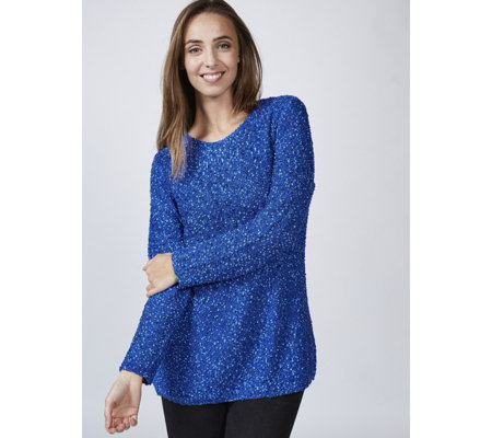 Boucle Knit Scoop Neck Tunic by Michele Hope