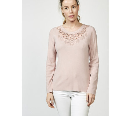 Together Jumper with Crochet Lace Neckline