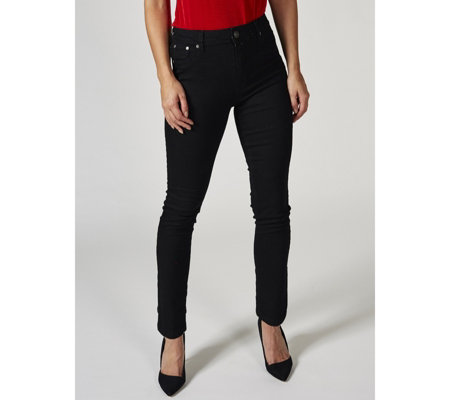 Kim & Co Power Stretch Fly Front Slim Leg Petite Jeans