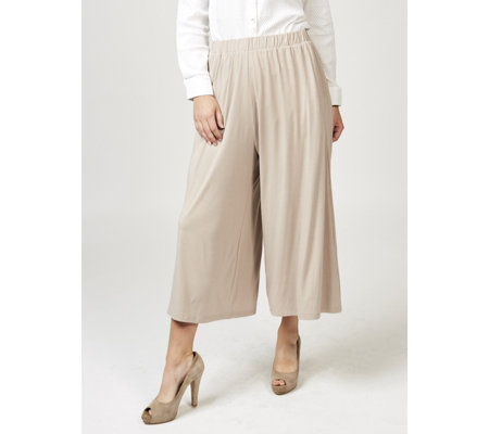 Join Clothes Jersey Wide Leg & Elasticated Waist Cropped Trousers