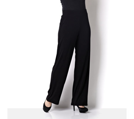 Kim & Co Stretch Crepe Straight Leg Trouser Regular Length