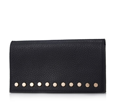 Amanda Wakeley The Lennon Large Leather Purse with Stud Detailing